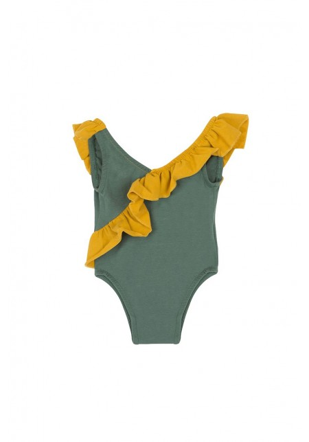 76d49a950 JULIA BABY JULIA BABY · JULIA BABY. Girl's one-piece swimsuit in aqua green  and mustard yellow