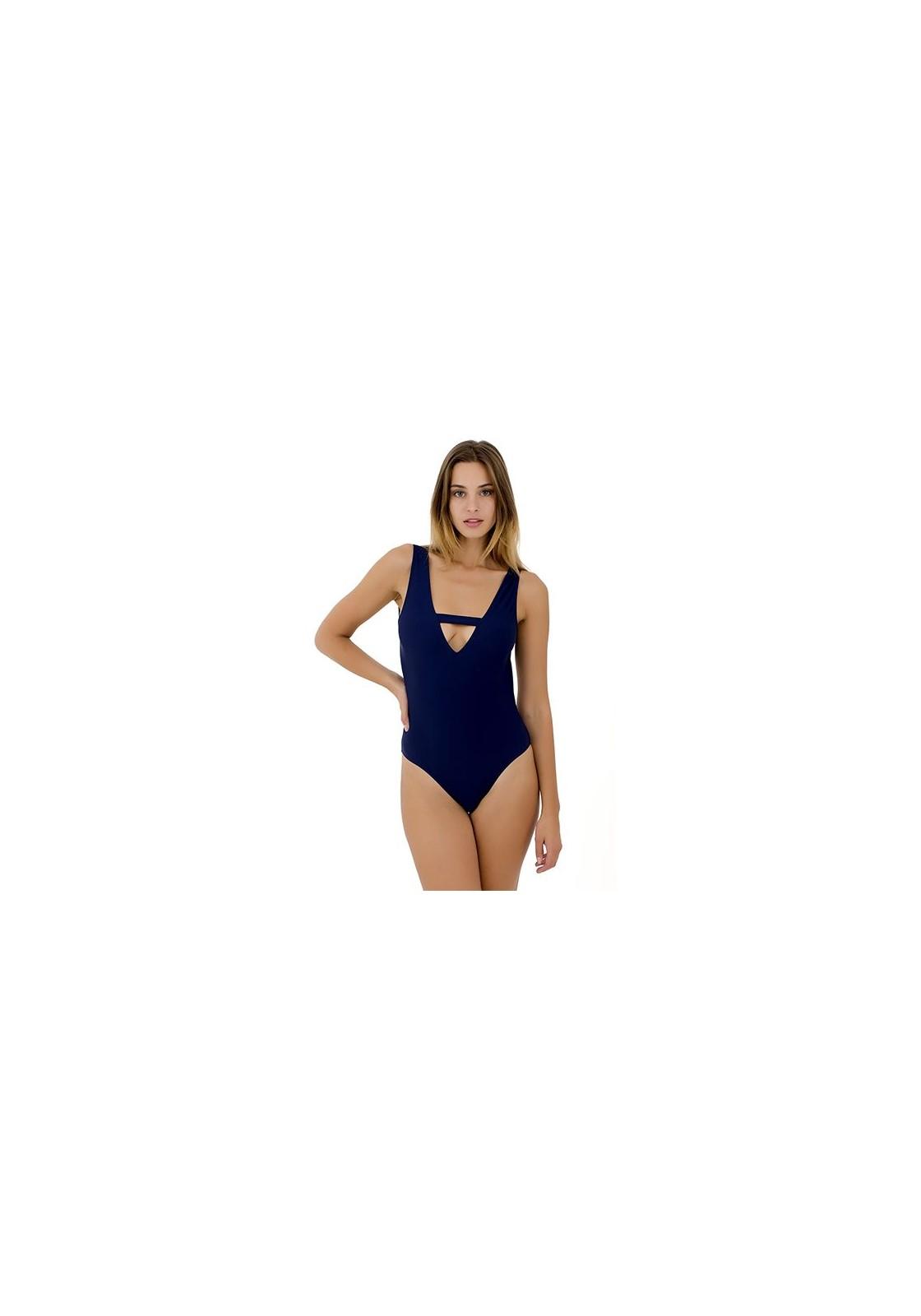 maillot de bain 1 pièce bleu Alma