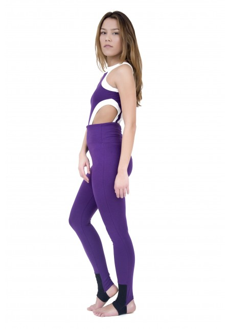 WAS Purple, white and black sport legging -  OUTLET SPORT