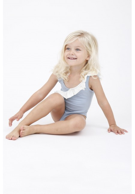 8e08e0992 JULIA BABY JULIA BABY · JULIA BABY. One piece swimsuit for little girl in  blue sugar and white. Bleu dragée-Blanc