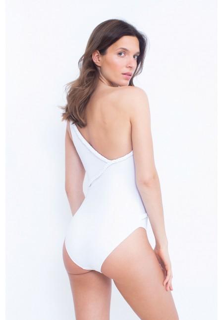 YARA One-piece swimsuit in white -  Maillot de bain prix doux