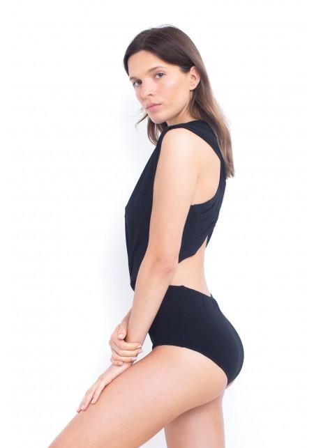 DORO One-piece swimsuit in black in organic cotton -  Luz x Mare Di Latte