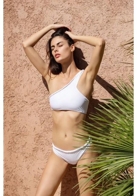 BRIEFS CONSTANCE Bikini briefs in white -  Maillot de bain prix doux