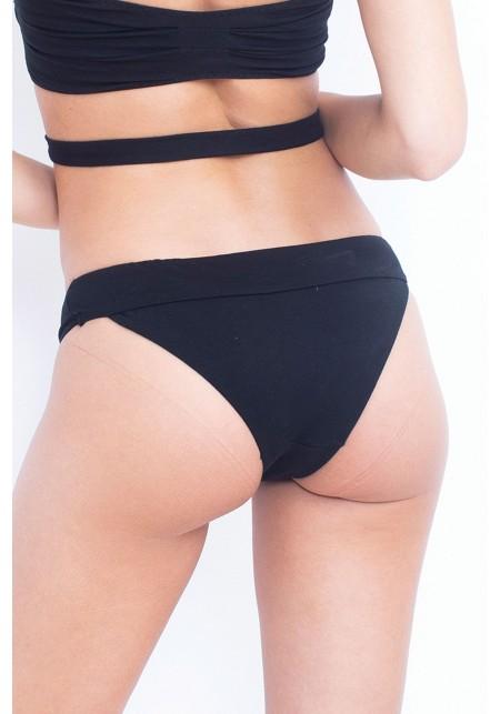 BAS LAURIE Bas de maillot de bain noir - Coton bio -  Maillot de bain prix doux
