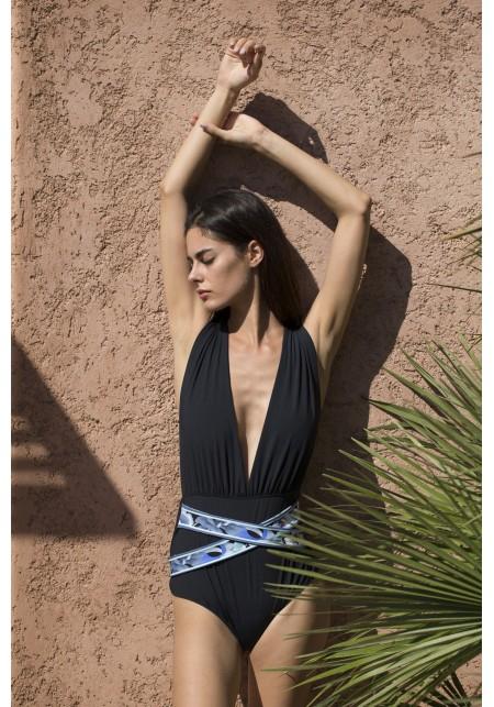 SIB One-piece swimsuit in black -  Luz X Léonard