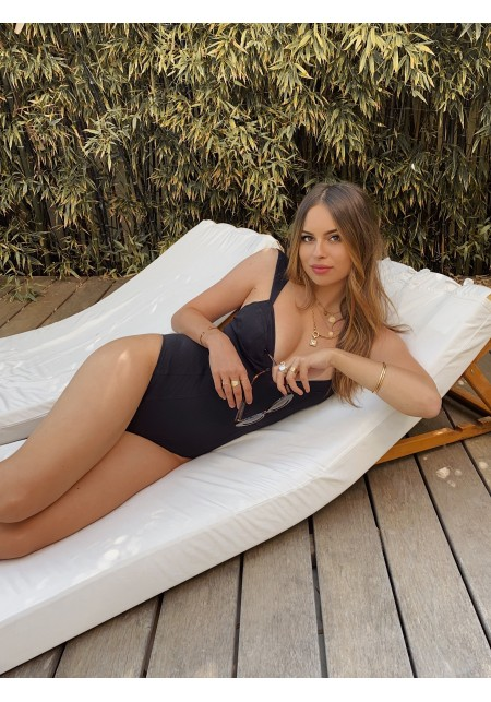 IVY One-piece swimsuit in black -  LUZ X JODIE LA PETITE FRENCHIE