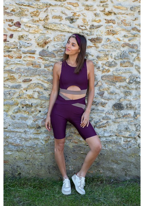 KAKO Purple and mocha cycling short -  OUTLET SPORT