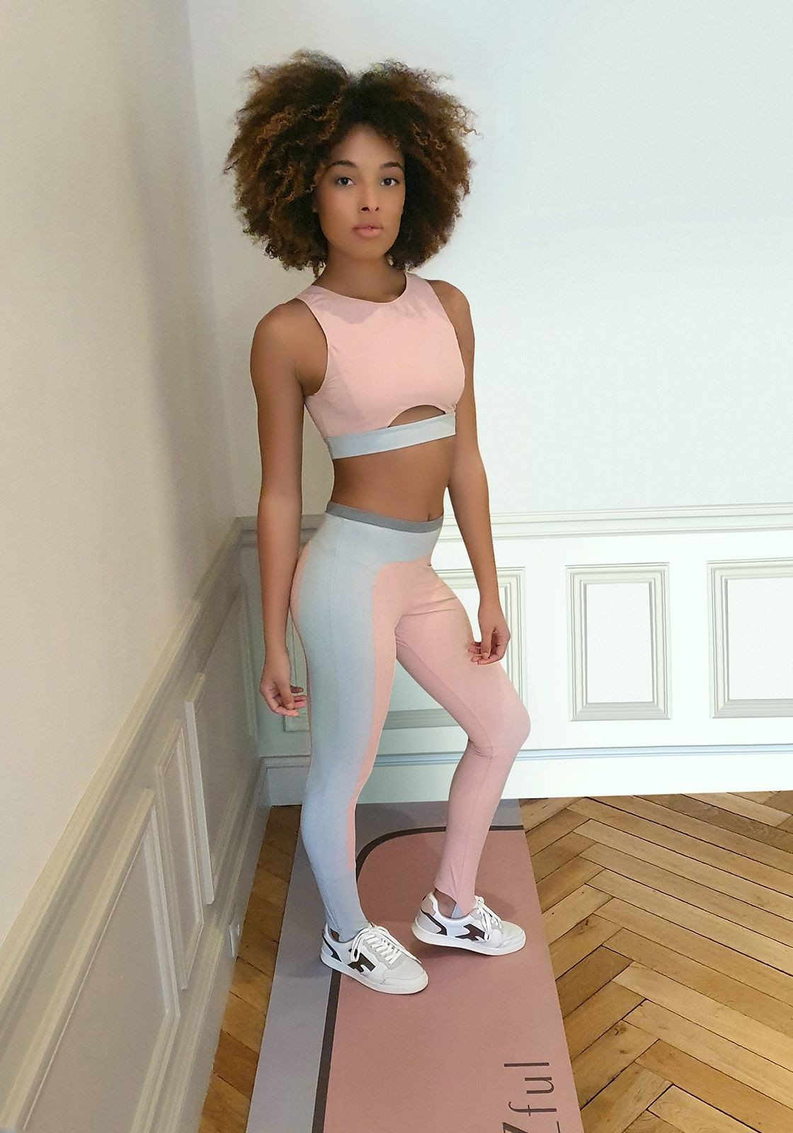 PALOMA Pink and grey sports legging -  Cloud collection