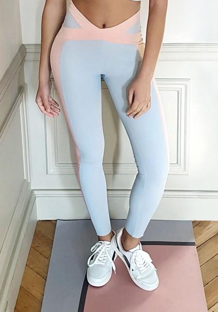 LUCILE Legging de sport gris et rose -  Cloud collection