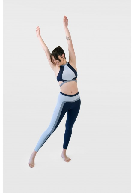 Navy blue and grey sports bra - ANNA