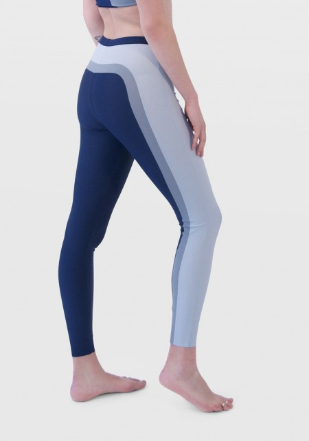 MILA Navy bluewith shades of grey sports legging -  Cloud collection