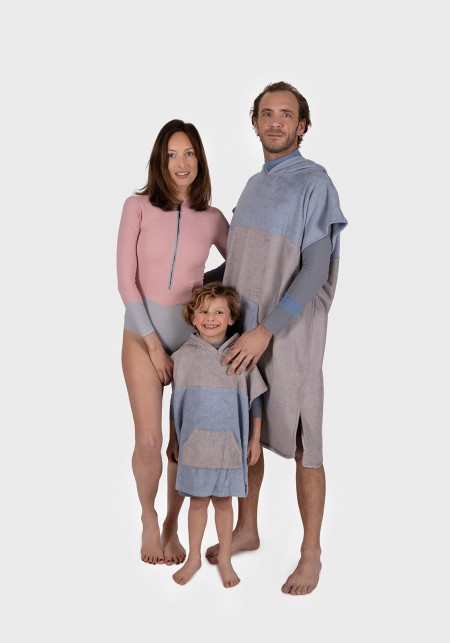 ELY Pink and grey women's long-sleeves wetsuit -  Nautic wear