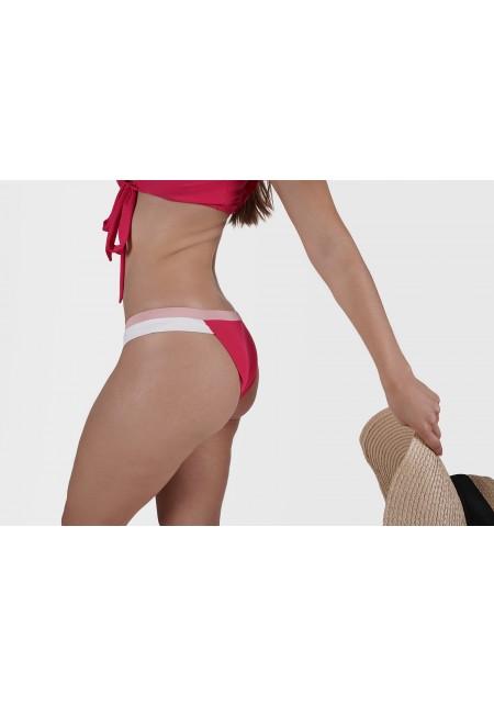 BAS AURELIE Bas de maillot de bain fuschia,rose etblanc -  Maillot de bain prix doux
