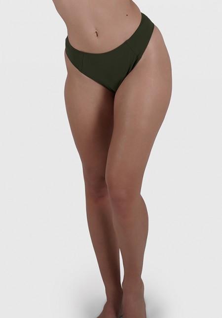 SERENA Khaki bikini bottom -  Maillot de bain prix doux