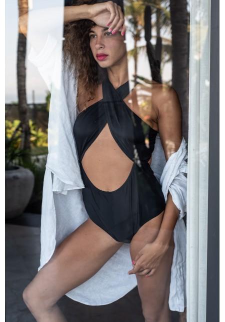 CHLOE Black one-piece swimsuit -  Maillot de bain prix doux