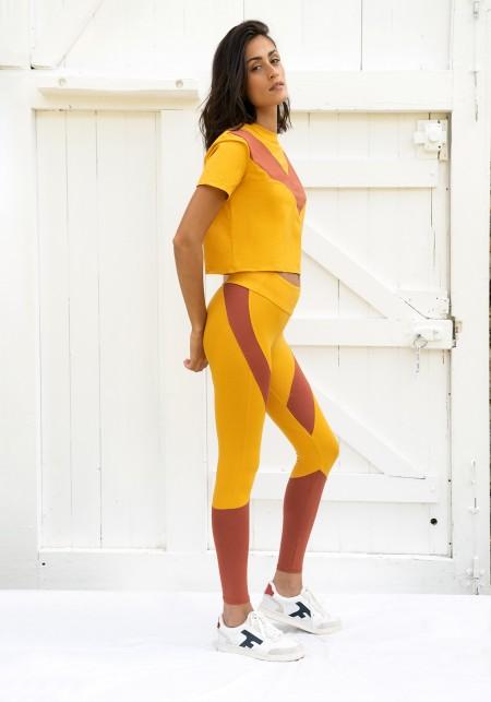 Legging de sportmoutardeetsienne - JANE